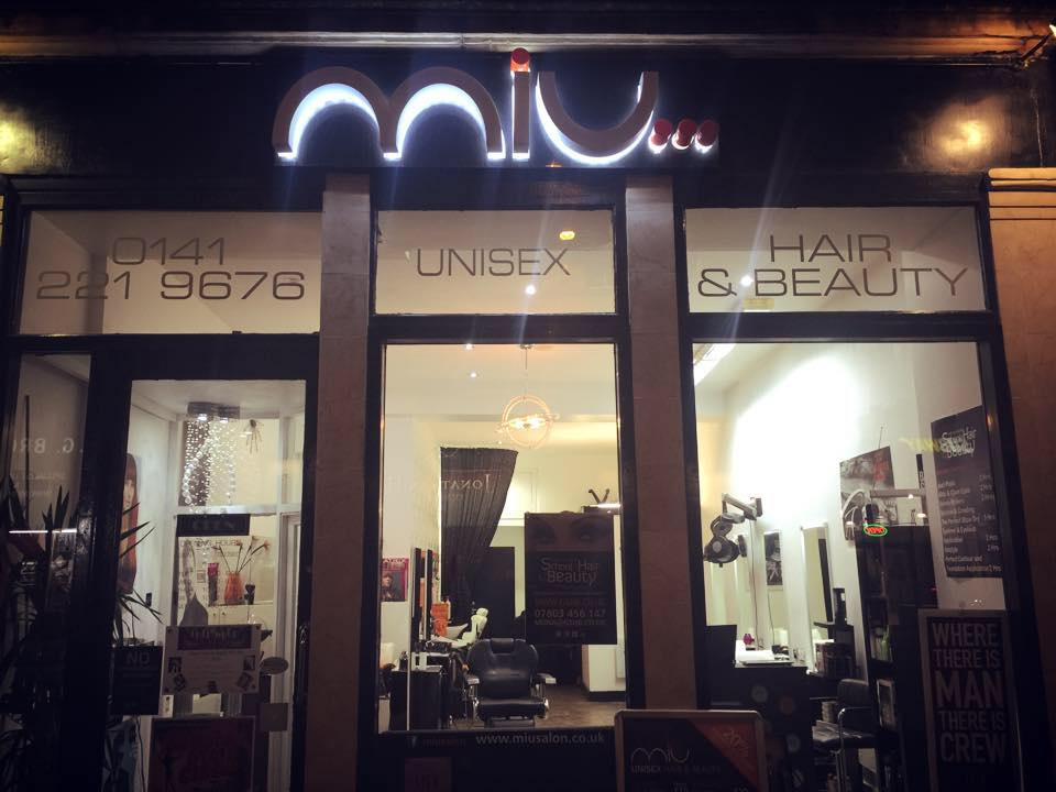 MIU Salon hairdressing barber shop front